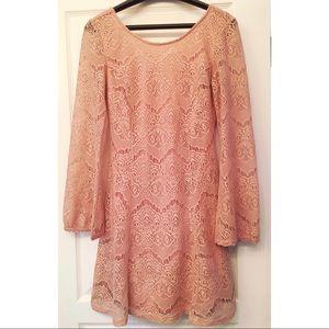 S Xhilaration crochet blush boho dress